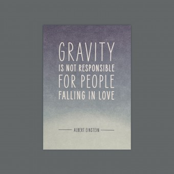 Feingeladen // MAGIC WORDS // Gravity (Albert Einstein) – A6