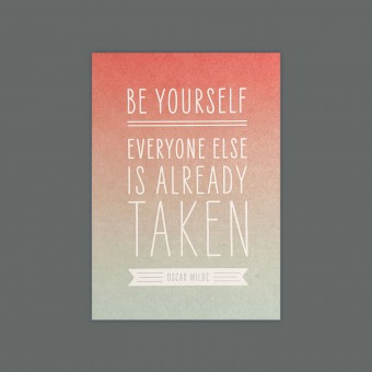 Feingeladen // MAGIC WORDS // Be Yourself (Oscar Wilde) – A6