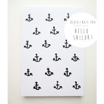 """PETERSEN Schreibblock """"Hello Sailor"""""""