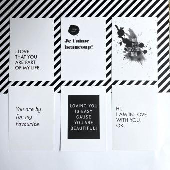 "Love is the new black – Postkarten-Set ""Love"""