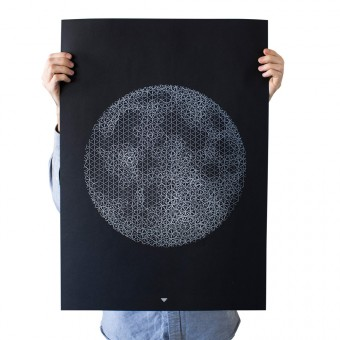 FUNDAMENTAL BERLIN – PUSH MOON Siebdruck Poster