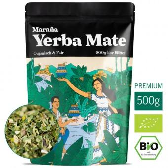 Marania Bio Yerba Mate Tee Grün ● Lose Blätter ● Natürlicher Wachmacher und Energy Booster mit Koffein ● Beste Kaffee-Alternative ● Fair Trade