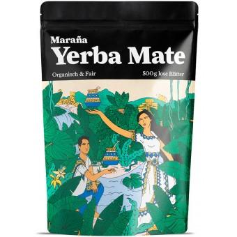 Maraña Bio Yerba Mate Tee Grün – Natürlicher Wachmacher und Energy Booster mit Koffein – 500g lose Blätter – Organisch & Fair