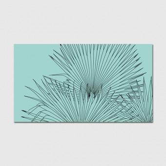 """ZEITLOOPS """"Palmen, gezeichnet"""", Poster 16:9"""