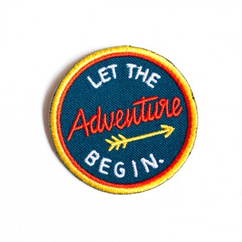 "Roadtyping Patch zum Aufbügeln ""Let the adventure Begin"""