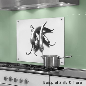 COGNOSCO Küchenrückwand 50x60 cm aus Glas - Peperoni