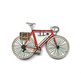 Roadtyping Emaille Pin Fahrrad