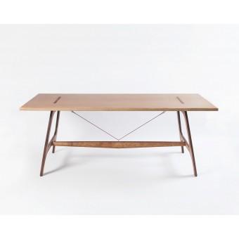 Pirol Furnituring Pit Frame, Tisch (MDF/ 200cm | Beine, Birke/Braun))