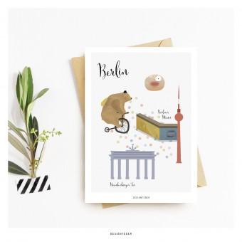 designfeder | Postkarte Berlin
