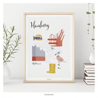 designfeder | Poster Lieblingsstadt Hamburg