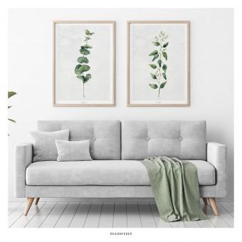 designfeder | Poster Pflanze Urban Jungle No.1+2