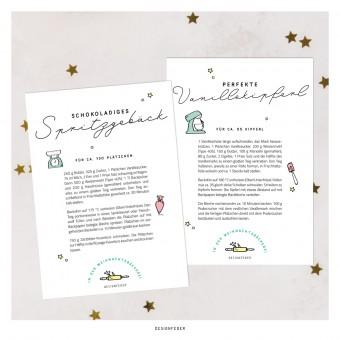 designfeder | Weihnachts-Postkarten Plätzchenrezepte