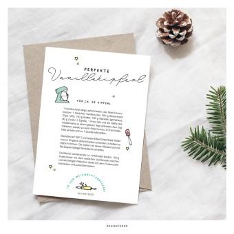 designfeder | Weihnachts-Postkarte Plätzchenrezept 2