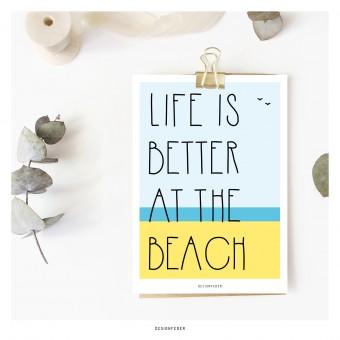 designfeder | Postkarte Beach