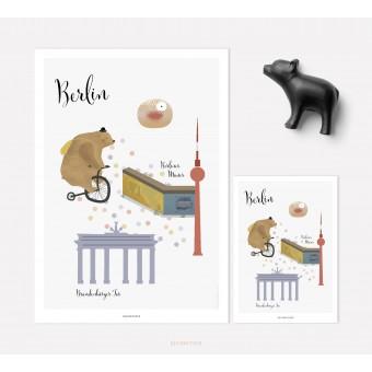 designfeder | Poster & Postkarte Lieblingsstadt Berlin