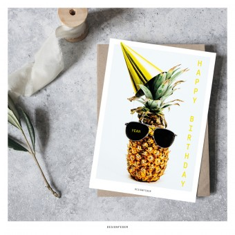designfeder | Postkarte Happy Birthday