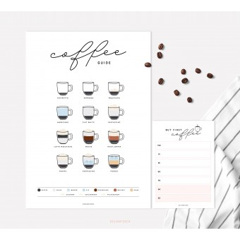 designfeder | Poster & Notizblock Coffee