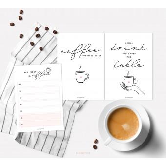 designfeder | Postkarten & Notizblock Coffee