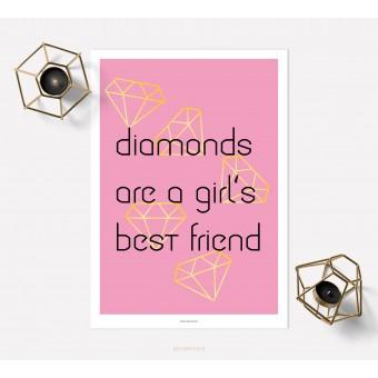 designfeder   Poster Diamonds are a girl's best friend