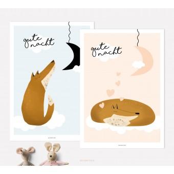 designfeder | Poster Gute Nacht kleiner Fuchs 3