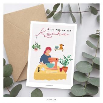 designfeder | Postkarte Post aus der Küche