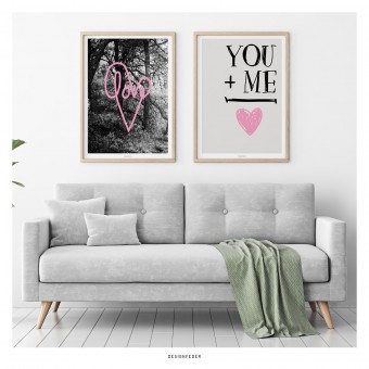 designfeder | Poster Love und You + Me