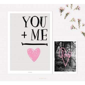 designfeder | Poster & Postkarte Love 2