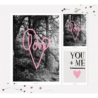 designfeder | Poster & Postkarten Love 2