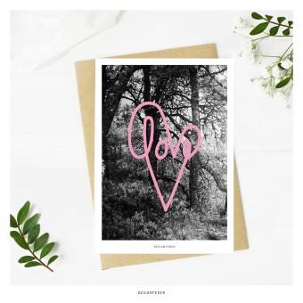 designfeder | Postkarte love