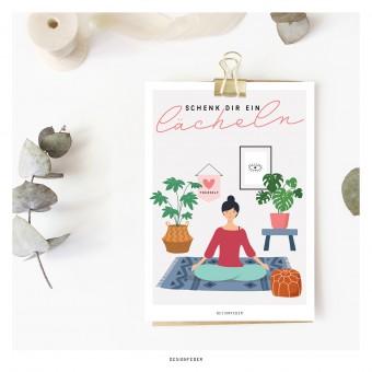 designfeder | Postkarte Schenk dir ein Lächeln
