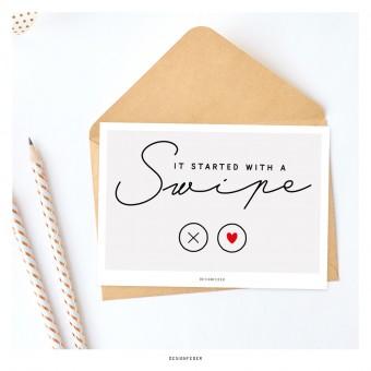 designfeder | Postkarte It started with a swipe