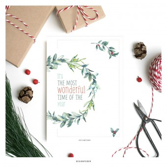 designfeder | Klappkarte it's the most wonderful time of the year