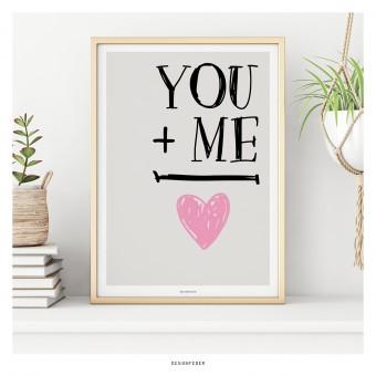 designfeder | Poster You + Me