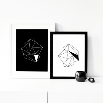 "na.hili Print 2er-Set ""diamonds""... A3 Poster"