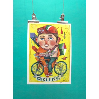 Martin Krusche – Artprint »Cyclist« DIN A3