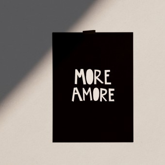 """Love is the new black — Poster """"More Amore"""", Din A4 Format"""