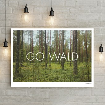 WOOD LOVE Hamburg  Poster A3 (Querformat) - GO WALD