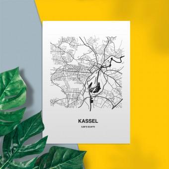 Stadtliebe® | Kassel Map-Postkarte