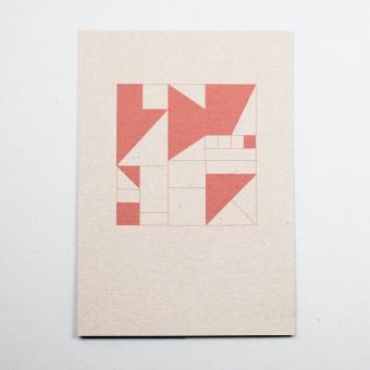 """KLEINWAREN / VON LAUFENBERG Glückwunschkarte """"Geometrisch Rot"""""""