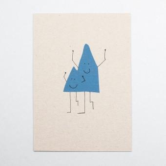 KLEINWAREN / VON LAUFENBERG Postkarte Bergmann