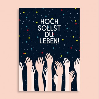 Family Tree Shop / Postkarte / Hoch sollst du leben!