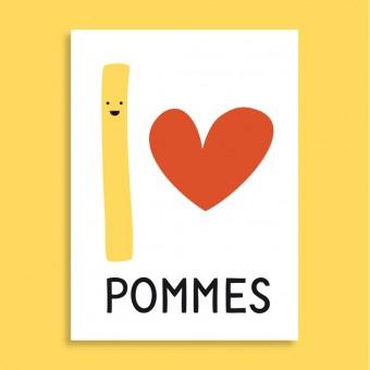 Family Tree Shop / Postkarte / I love Pommes
