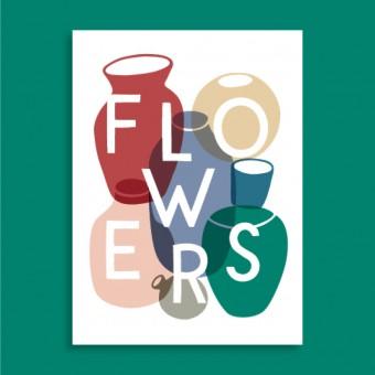 Family Tree Shop / Postkarte / Flowers
