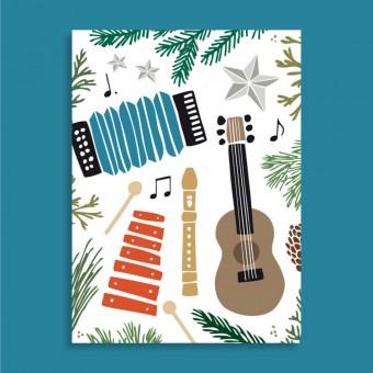 Family Tree Shop / Postkarte /  Hausmusik