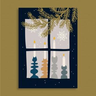 Family Tree Shop / Postkarte / Weihnachten zuhause