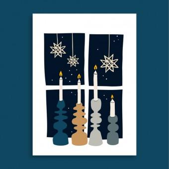 Family Tree Shop / Postkarte / Weihnachten steht vor der Tür
