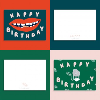 Family Tree Shop / 2er Postkarten-Set / Happy Birthday