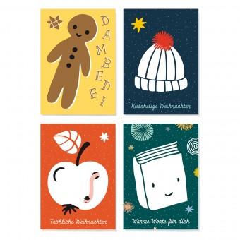 Family Tree Shop / Postkarten-Set / Fröhliche Weihnachten
