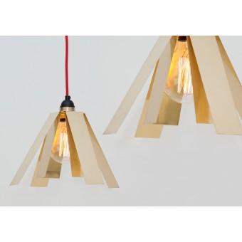 LJ LAMPS Psi straight up – Hängeleuchte aus Messing