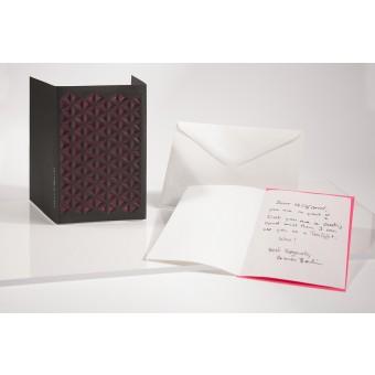 formes Berlin Pyramide und Sternchen Set, schwarz, 2 Karten - Reliefkarte mit gelasertem Motiv, Einlegern und  Umschlag